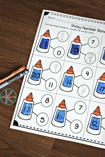 These worksheets make it fun for kids to practice Number Bonds Kindergarten