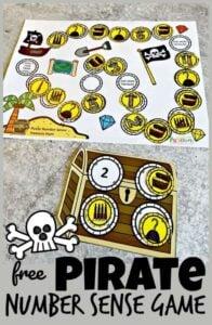 pirate number sense activity for kindergartners