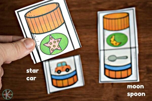 back to school activity to practice Rhyming Words for Kindergarten