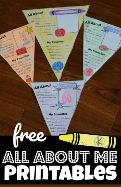 picture regarding Free Printable All About Me Poster known as All More than Me Printable Kindergarten Worksheets and Game titles