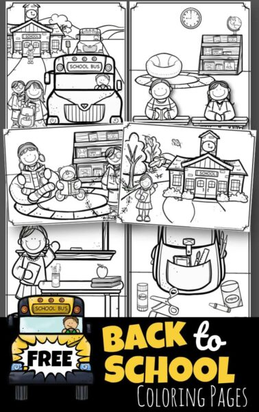 Back to School Coloring Pages – Kindergarten Worksheets and ...