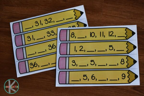 FREE Printable Back to School Math Activity to help kindergartners practice counting to 10, counting to 20 and counting to 30