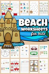 beach worksheets