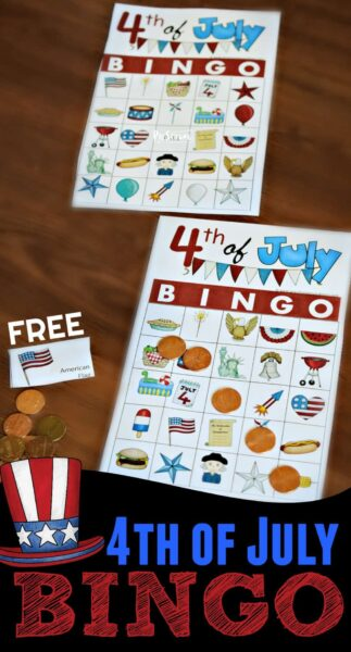 FREE 4th of July Game BINGO