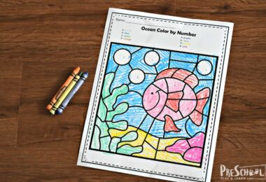 Super cute free color by number printables