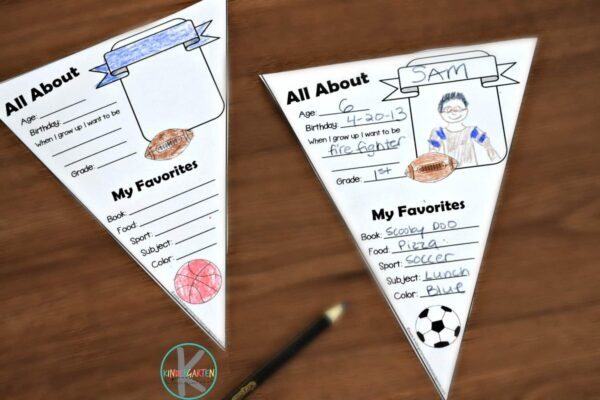 free printable all about me worksheet perfect for the first day of school