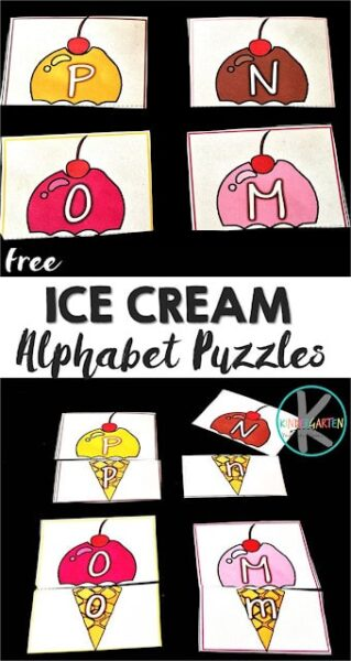 FREE Ice Cream alphabet PUzzles