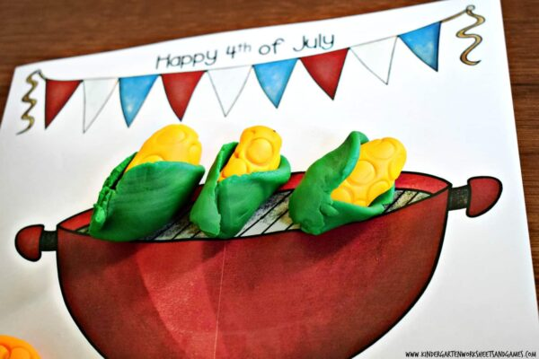 Super cute grilling themed summer printables for preschool and kindergarten age kids to practice counting to 10