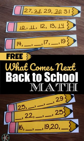 What Comes NExt Back to School Math