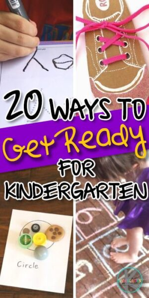 20 Ways to Get Ready for Kindergarten - is your prek child ready for kindergarten? Here are 20 things to look at from behaviors, early math, early literacy skills and more to determine if your child is ready to be a kindergartner. #kindergarten #preschool #prek