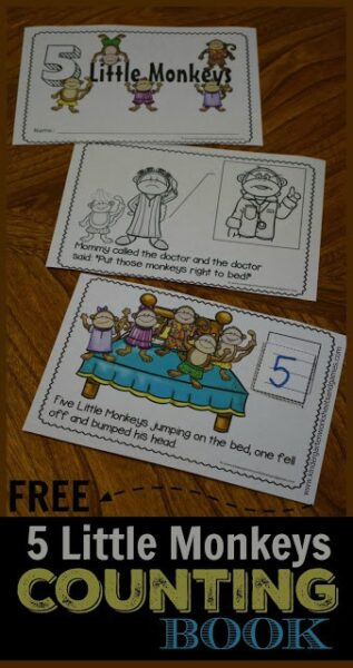 FREE Five Little Monkeys activity