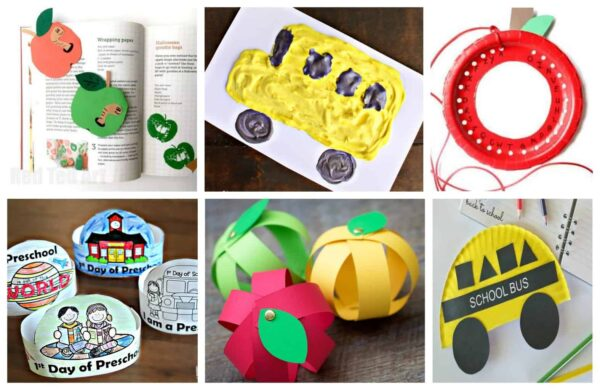 So many fun Back to School Arts and Crafts for preschoolers, and kindergartners