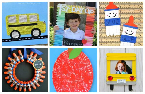 These adorable Back to School Crafts for Kids are a fun way to celebrate going back to school in August or September