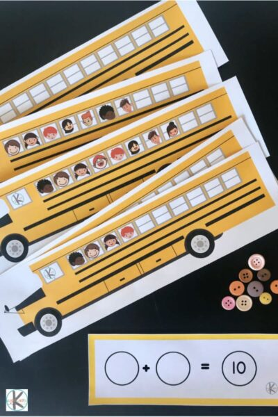 Count 1-10 with this fun, free printable kindergarten math activity for the first day of school