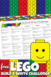 Lego BUild and Write creative writing prompts