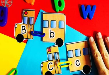 FREE printable school bus printable is a fun way for kids to practice abcs