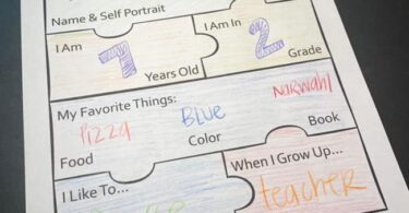 Kids will love filling out this unique all about me worksheet in prek, kindergarten, and first grade