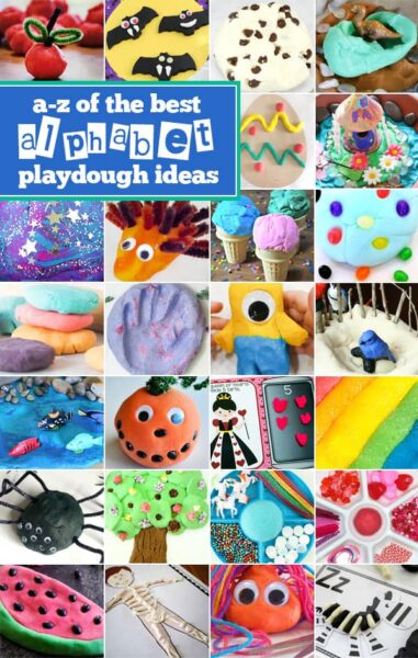 Tons of fun, hands on alphabet activities for toddlers, preschoolers, and kindergartners using play dough