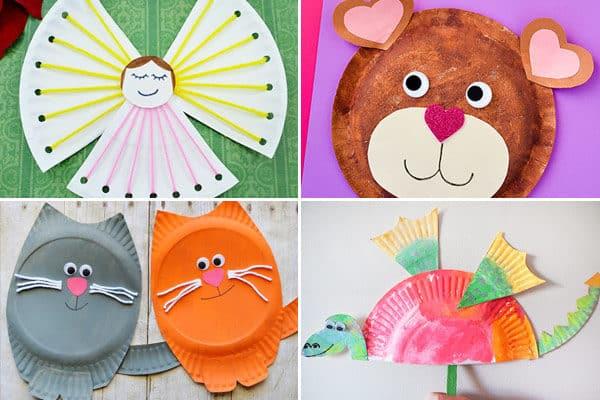 So many fun alphabet craft ideas using paper plates