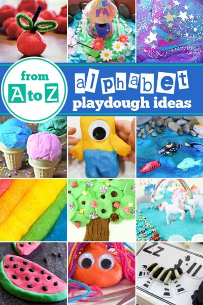 Kids of all ages will have fun learning their letters, strengthening their hand muscles, and exploring their creativity and they play and learn with these Playdough Activities. We have over 100 really fun play doh ideas for toddler, preschool, pre-k, kindergarten, and first grade kids. In fact we have ideas for every alphabet letter from A to Z!