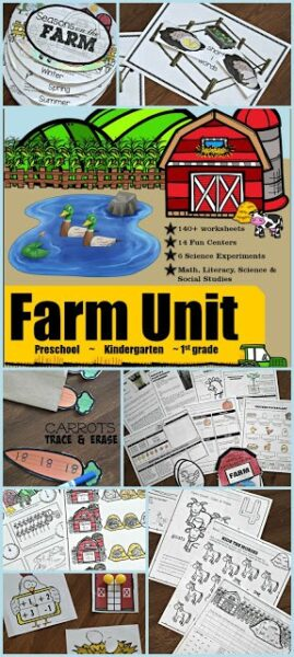 HUGE Farm Unit for Kindergarten - over 200 pages!