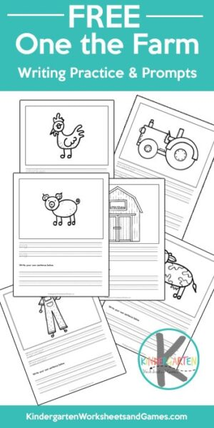 Kids will have fun practicing writing with these super cute, fun, and FREE On the Farm Writing Prompts perfect for kids of all ages. #writingprompts #creativewritingideas #writingpractice
