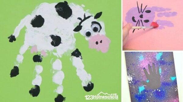 Tons of Handprint art projects for toddler, preschool, prek, and kindergarten age kids