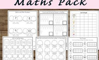 Ice Cream Kindergarten Math Worksheets