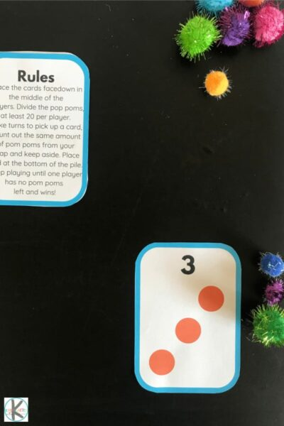 fun, hands-on kindergarten math game