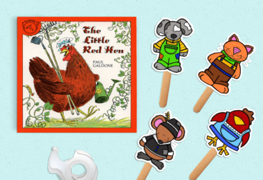 free printable puppets for retelling little red hen story