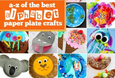 Paper plate craft ideas to teach toddlers, preschoolers, and kindergartners their letters