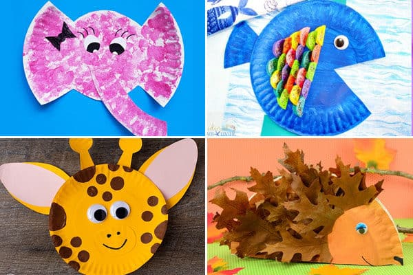 paper plate crafts for letter e f g h