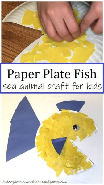 Kids of all ages will love creating their own unique Paper Plate Fish Craft with this super cute craft for kids! #craftsforkids #paperplatecrafts #preschool