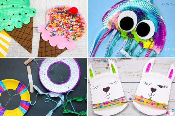 paper plate crafts for letter i j k l