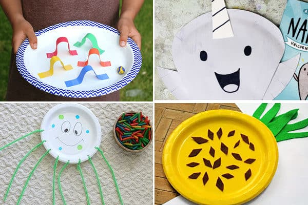 paper plate crafts for letter m n o p