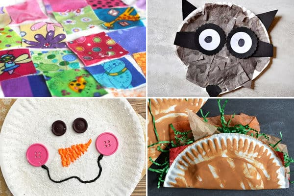 paper plate crafts for letter q r s t