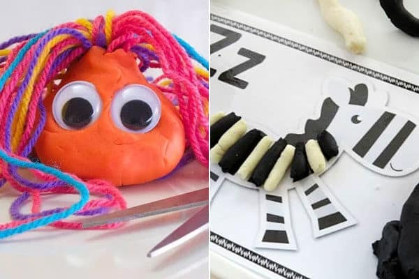 letter y and letter z playdough activities for preschoolers and kindergartners