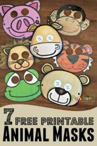 super cute free printable animal masks for kids