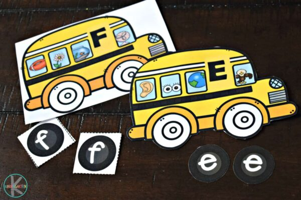 This super cute school bus phonics game has so many optoins