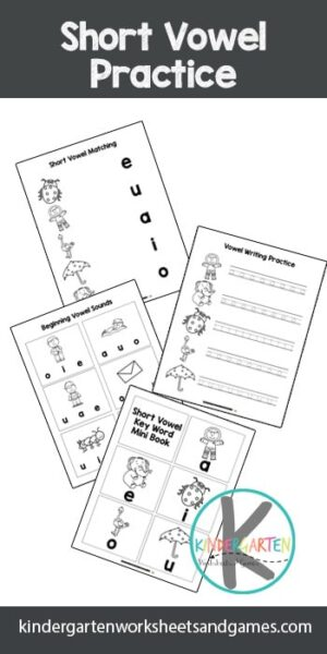 FREE Short Vowel Sounds Worksheets - these free printable kinderarten worksheets are a great tool for kids to work on identifying vowels and the sounds they make #shortvowels #kindergarten