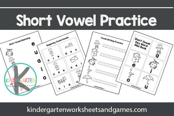 Help kids learn about short vowels with these free printables for kindergarnters