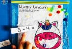 Unicorn themed Subtraction Game for kindergarten and first grade students