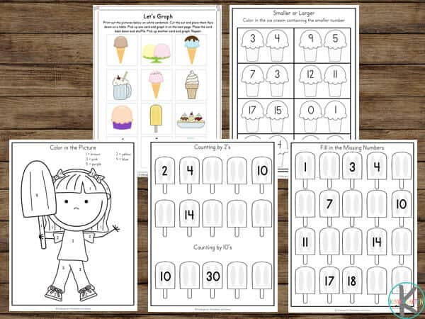 summer math worksheets for kindergartners