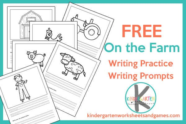 Super cute free printable creative writing ideas with a farm theem for kindergarten, first grade, 2nd grade, and 3rd grade students