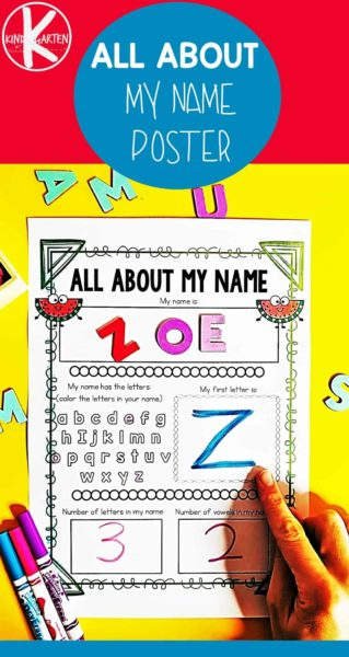 FREE Watermelon All About Me Poster - kids will have fun with this adorable back to school printable to get to know others students #kindergarten #allaboutme #backtoschool