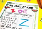 Super cute watermelon themed all about me poster for prek, kindergarten, and first grade kids for learning their name and more