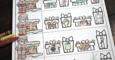 Christmas worksheets for preschoolers and kindergartners