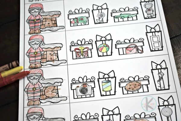 Christmas worksheets for preschoolers and kindergartners
