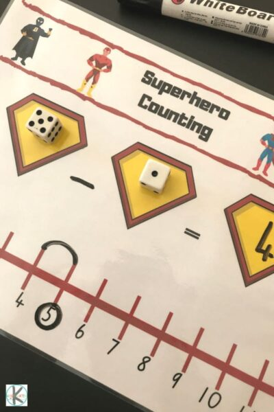 this is such a fun numberline activity for kindergartners