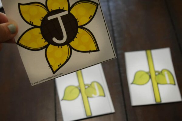 sunflower printable for hands on learning with kids